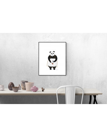 PANDA COFFEE PLAKAT A3